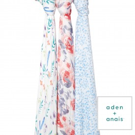 aden+anais watercolour garden 1 silky soft swaddle