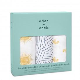 aden+anais golden sun 3-pack silky soft swaddles
