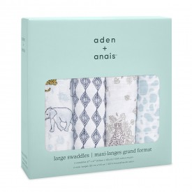 aden+anais jungle 4-pack classic swaddles