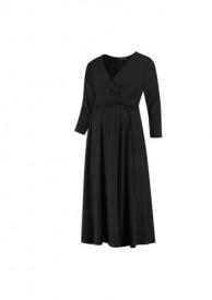 Love2Wait Dress nursing Gots black - svartur kjóll með V-hálsmáli