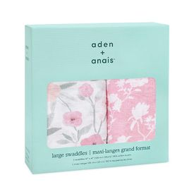 aden+anais ma fleur 2-pack classic swaddles