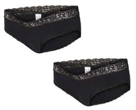 Mamalicious Alisa panties 2 pack black - nærbuxur 2 stk í pakka