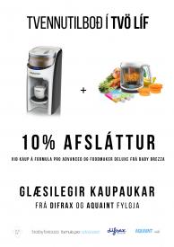Tvennutilboð! 10% afsláttur Babybrezza Formula Advanced + Foodmaker Deluxe