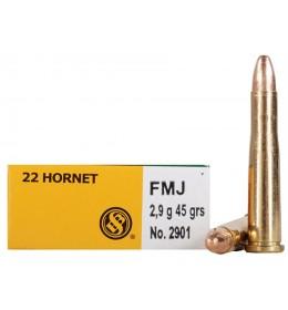 S&B 22 hornet 45grs FMJ