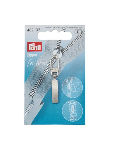 Thumb Fashion zip puller silv.