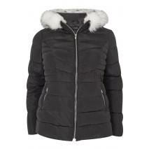 Svört Puffa Coat