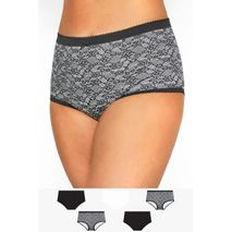 YOURS FULL BRIEF SVARTAR OG HVÍTAR FLORA
