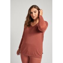 ADIA KNIT PULLOVER WOOD