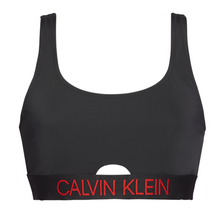CK SQUARE NECK BRALETTE BLACK