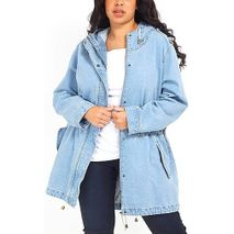 Denim Bleach Wash Parka