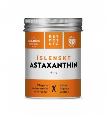 KEY NATURA  íslenskt Astaxanthin  60 perlur